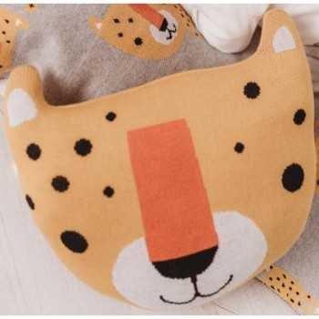 Bizzi Growin Cushion-Leopard