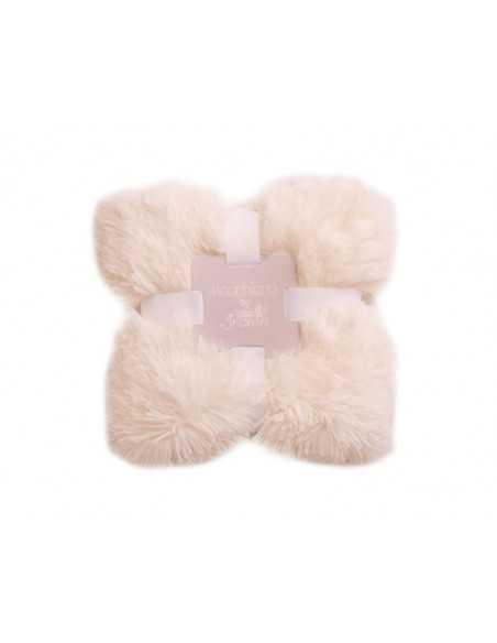 Bizzi Growin Koochicoo Blanket/Shawl-Cream Bizzi Growin