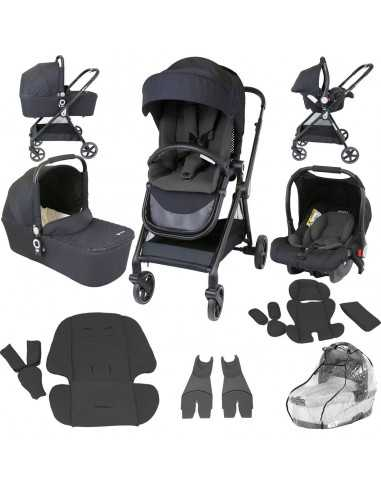 Isafe 3in1 Pram Travel System-Black