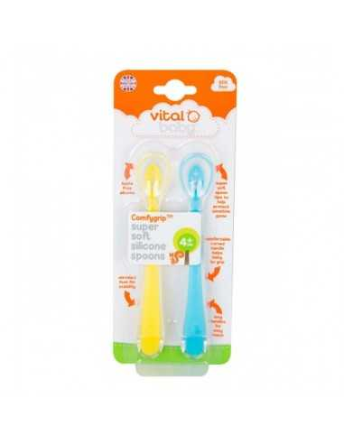 Vital Baby Supersoft Silicone Spoons...