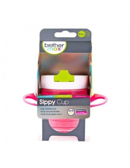 Brother Max Sippy Cup-Pink / Green Brother Max