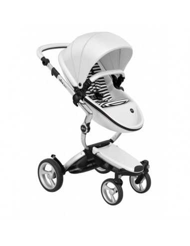 Mima Xari 3in1 Aluminium Chassis Pushchair-Snow White