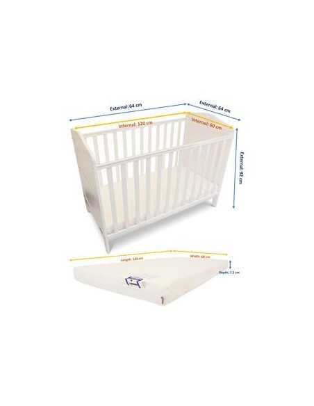 iSafe Baby Cot Bed Toddler Bed-Monika White Isafe