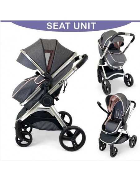 Isafe Mio All In One 3in1 Pram System-Cookie Isafe