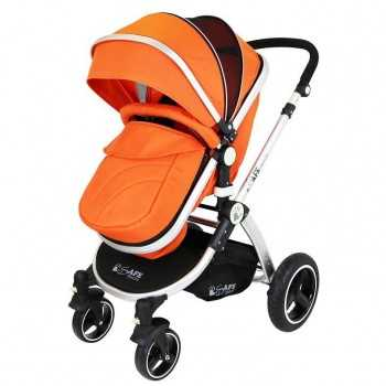 Isafe 2in1 Pram System-Orange