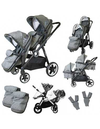 Isafe Tandem Double Pram Travel...