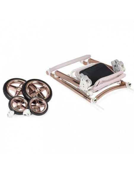 Bebecar Prive Via+ 3in1 Combination Pram + Raincover & LA3 Safety Kit-Pink Shimmer (184) Bebecar