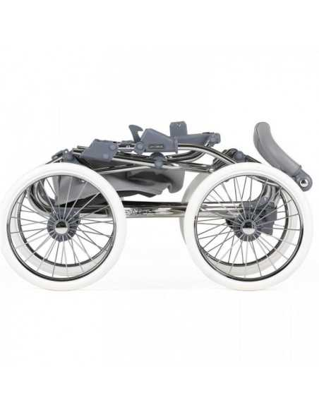 Bebecar Prive Stylo Class+ 3in1 Combination Pram + Raincover & LA3 Kit-Grey Shimmer (185) Bebecar