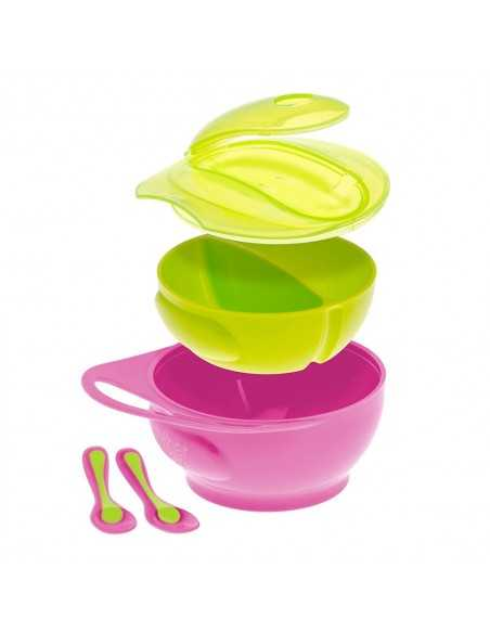 Brother Max Weaning Bowl Set-Pink / Green Brother Max