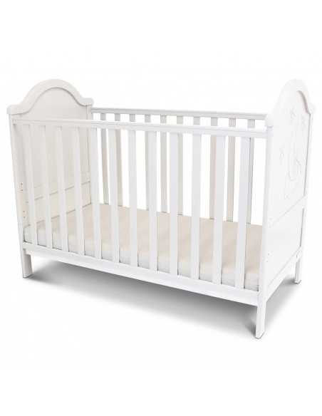 iSafe Baby Cot Bed Toddler Bed-Wendy White (Including Mattress) Isafe