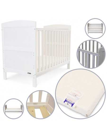iSafe Baby Cot Bed Toddler Bed-Arnie White Isafe