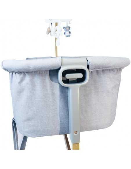 iSafe Cosy Cuddler Bedside Baby Coo Sleeping Crib-Solid Wood-Dark Grey Isafe