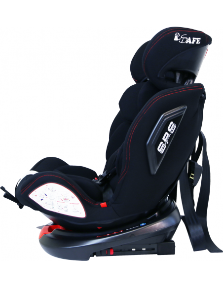 Isafe All Stages 360° Rotating Baby Car Seat Group 0+123 (CS 008)-Black Isafe
