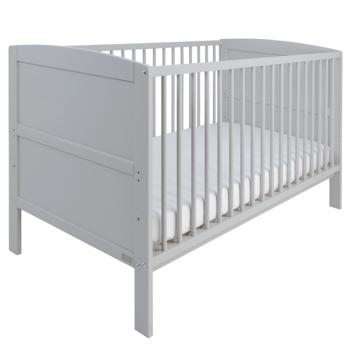 East Coast Hudson Cot Bed-Grey