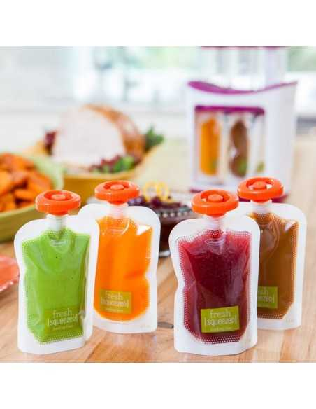 Infantino Fresh Squeezed Squeeze Pouches 50 Pack Infantino
