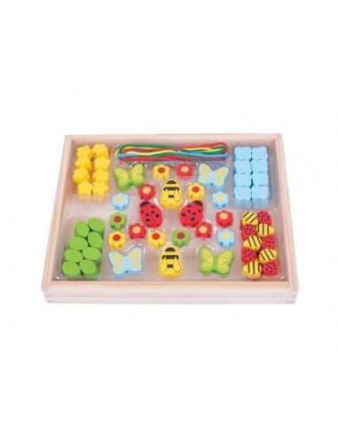 Bigjigs Toys Bead Box (Garden)