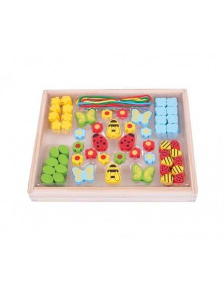 Bigjigs Toys Bead Box (Garden) Bigjigs Toys