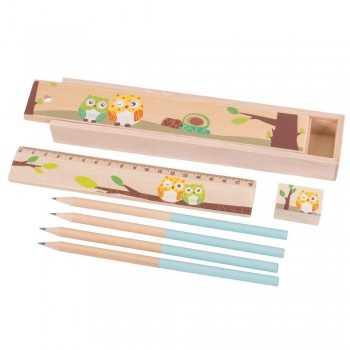 Bigjigs Toys Owl Pencil Box...