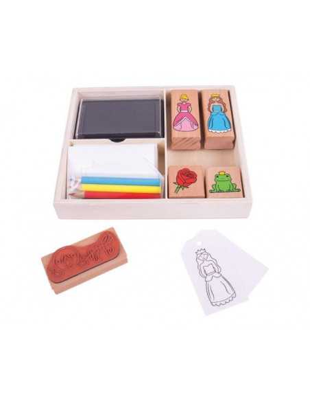 Bigjigs Toys Stamp And Colour (Fairy) Bigjigs Toys