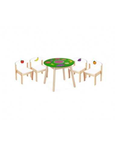 Bigjigs Toys Fruit Table And Four Chairs