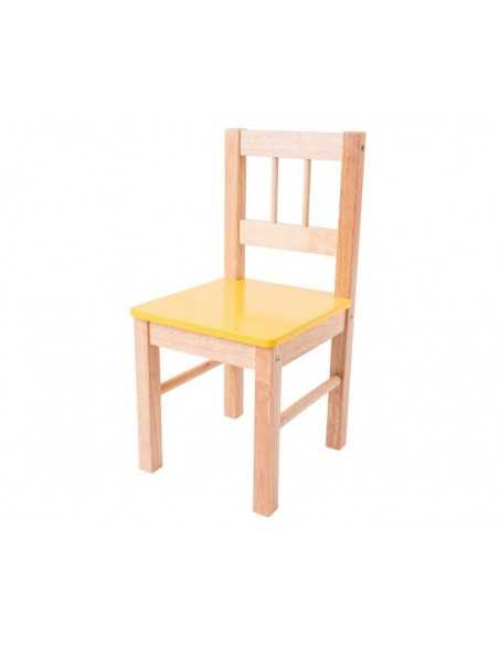 Bigjigs Toys Wooden Chair-Yellow Bigjigs Toys