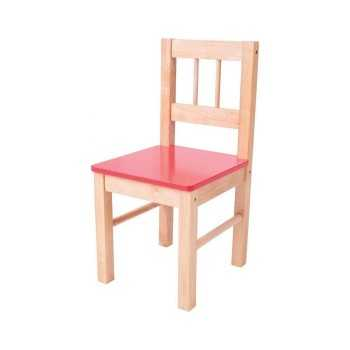 Bigjigs Toys Wooden Chair-Red