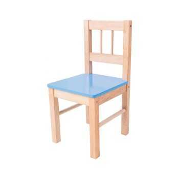 Bigjigs Toys Wooden Chair-Blue