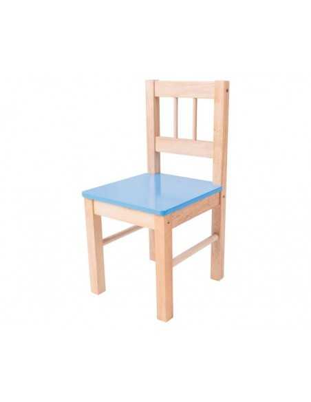 Bigjigs Toys Wooden Chair-Blue Bigjigs Toys