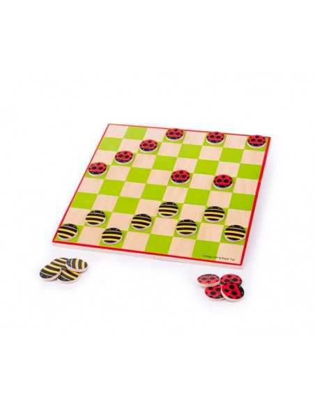 Bigjigs Toys Ladybird and Bee Draughts Bigjigs Toys