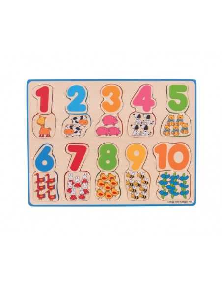 Bigjigs Toys Number and Colour Matching Puzzle Bigjigs Toys