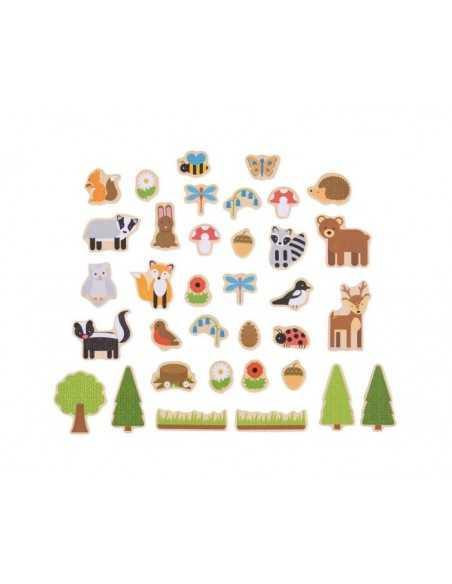 Bigjigs Toys Woodland Magnets Bigjigs Toys