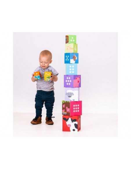 Bigjigs Toys Farmyard Stacking Cubes Bigjigs Toys