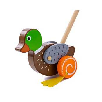 Bigjigs Toys Push Along-Duck