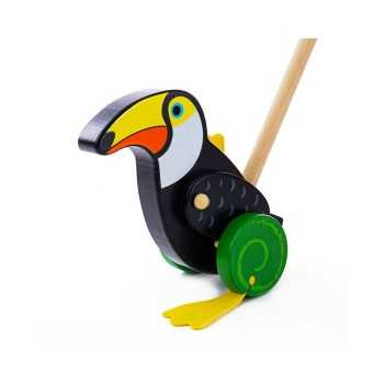 Bigjigs Toys Push Along-Toucan