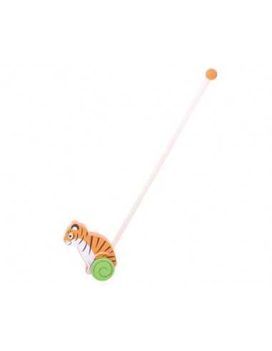 Bigjigs Toys Push Along-Tiger