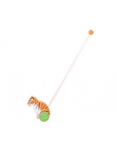 Bigjigs Toys Push Along-Tiger Bigjigs Toys