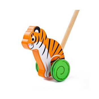 Bigjigs Toys Push Along-Tiger