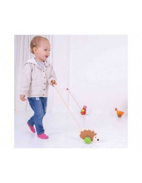 Bigjigs Toys Push Along-Hedgehog Bigjigs Toys
