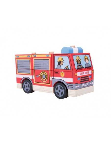 Bigjigs Toys Stacking Fire Engine Bigjigs Toys