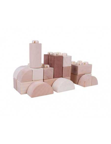 Bigjigs Toys Natural Click Blocks (100 Pieces) Bigjigs Toys