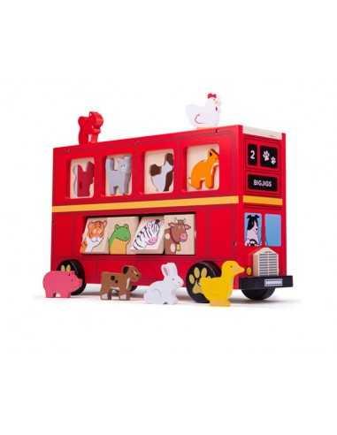 Bigjigs Toys Red Bus Sorter