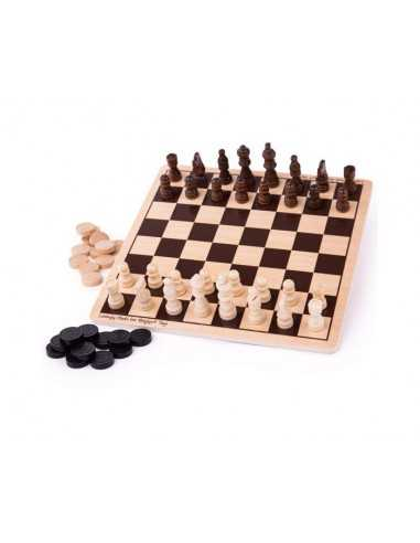 Bigjigs Toys Draughts and Chess Set