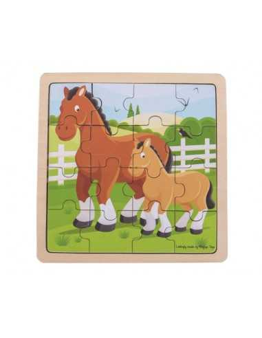 Bigjigs Toys Horse & Foal Puzzle