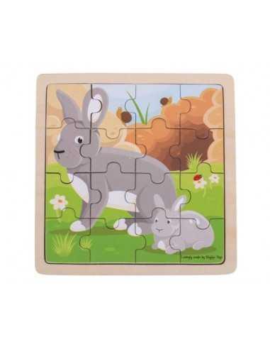 Bigjigs Toys Rabbit & Kitten Puzzle