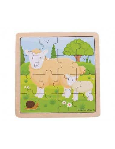 Bigjigs Toys Sheep & Lamb Puzzle