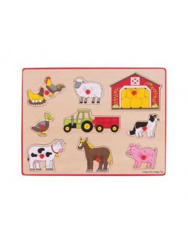 Bigjigs Toys Lift Out Puzzle-Farm