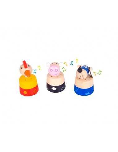 Bigjigs Toys Noisy Animal (Pack of 3)
