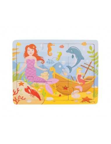 Bigjigs Toys Tray Puzzle-Mermaid