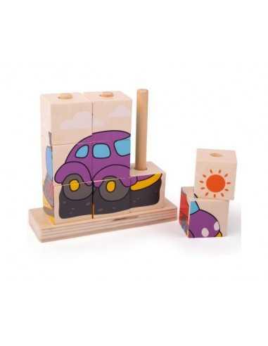Bigjigs Toys Stacking Blocks (Transport)