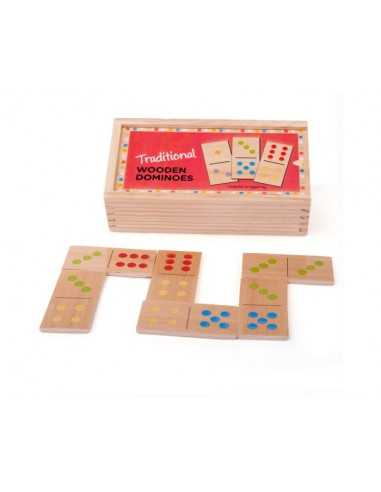 Bigjigs Toys Traditional Wooden Dominoes